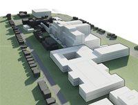 Maquette du nouveau complexe hospitalier.