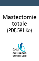 Mastectomie totale.